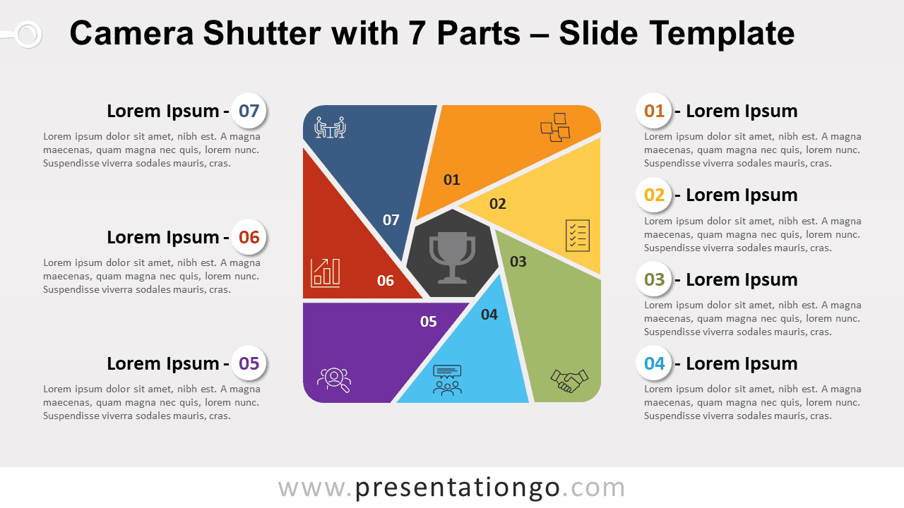 Free Camera Shutter with 7 Parts for PowerPoint and Google Slides