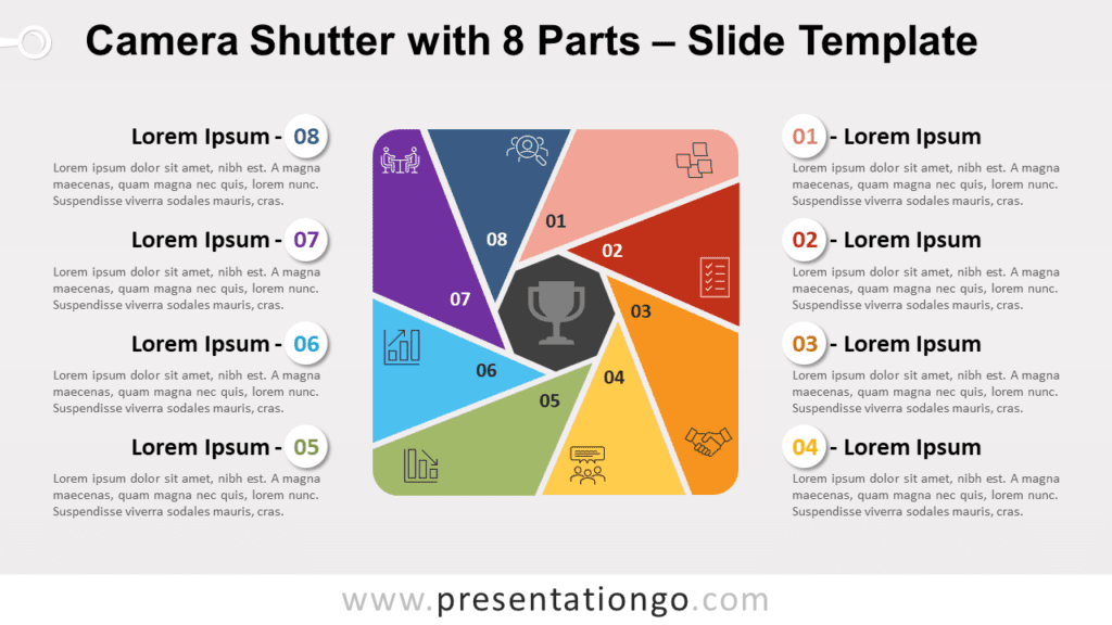 Free Camera Shutter with 8 Parts for PowerPoint and Google Slides