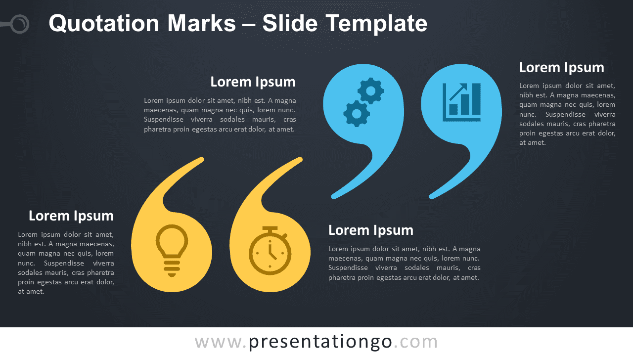 Free Quotation Marks Infographic for PowerPoint and Google Slides