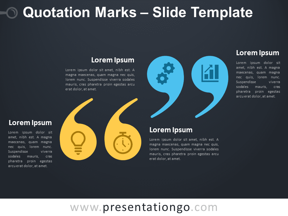 Free Quotation Marks Infographic for PowerPoint