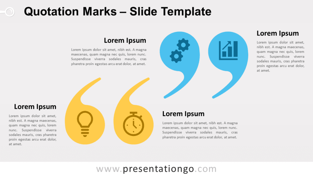 Free Quotation Marks for PowerPoint and Google Slides