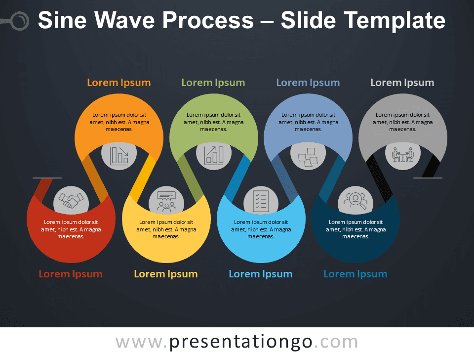 Free Sine Wave Process for PowerPoint