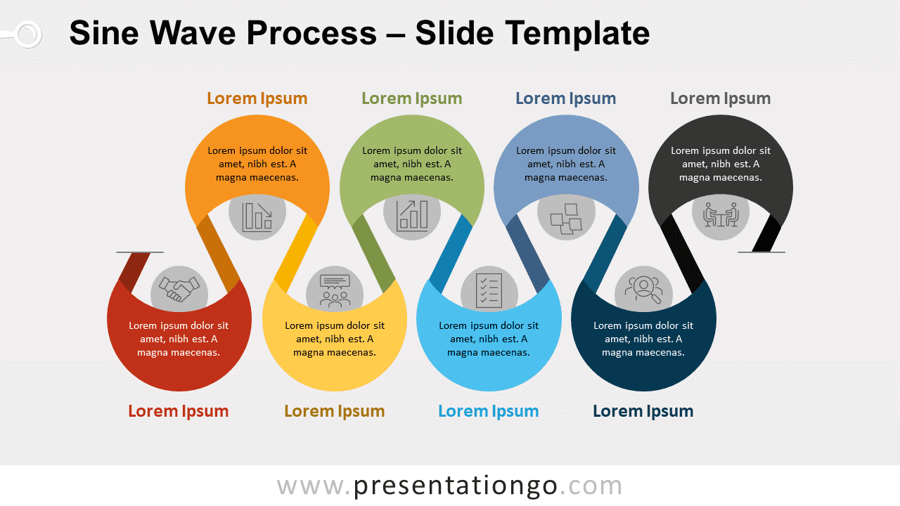 Free Sine Wave Process for PowerPoint and Google Slides