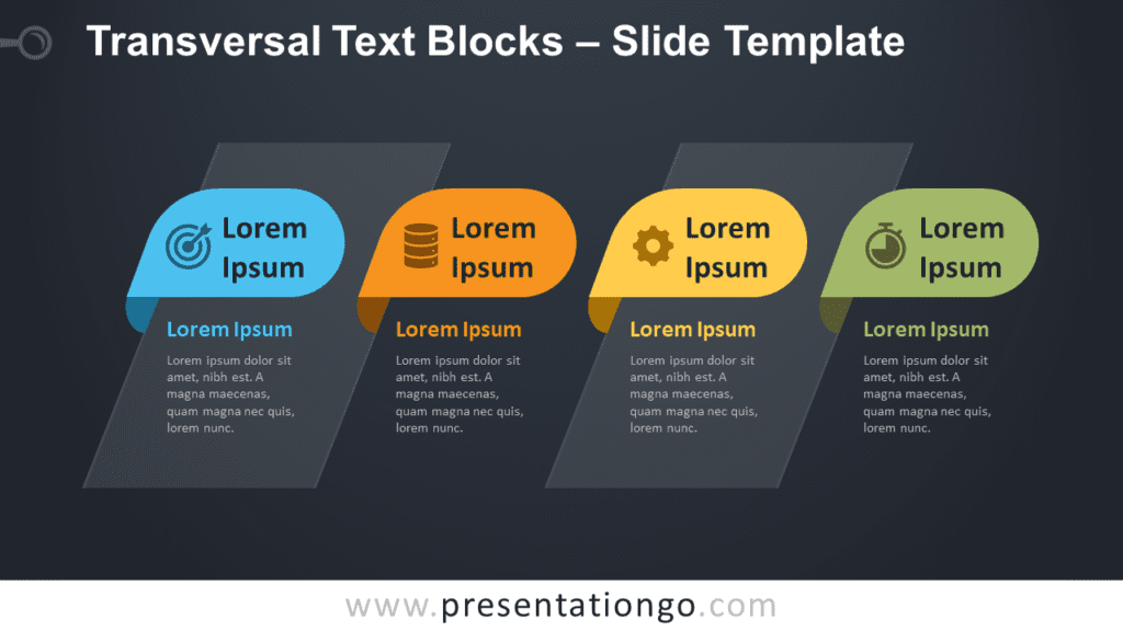 Free Transversal Text Blocks Infographic for PowerPoint and Google Slides