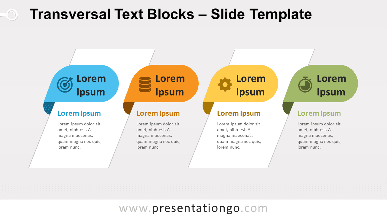 Free Transversal Text Blocks for PowerPoint and Google Slides