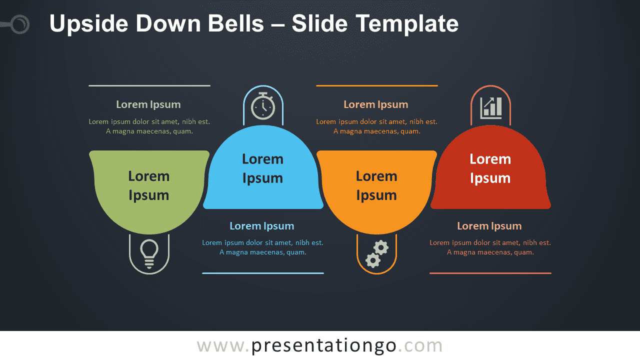 Free Upside Down Bells Diagram for PowerPoint and Google Slides