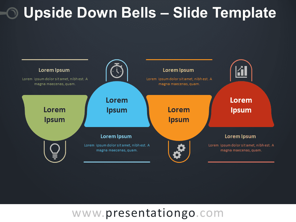 Free Upside Down Bells Diagram for PowerPoint