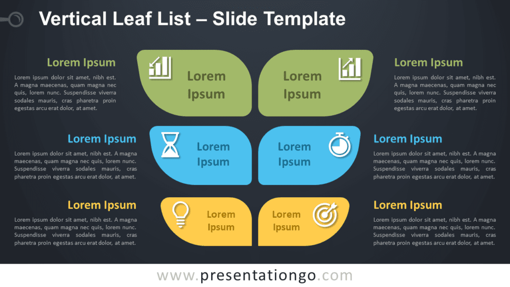 Free Vertical Leaf List Infographic for PowerPoint and Google Slides