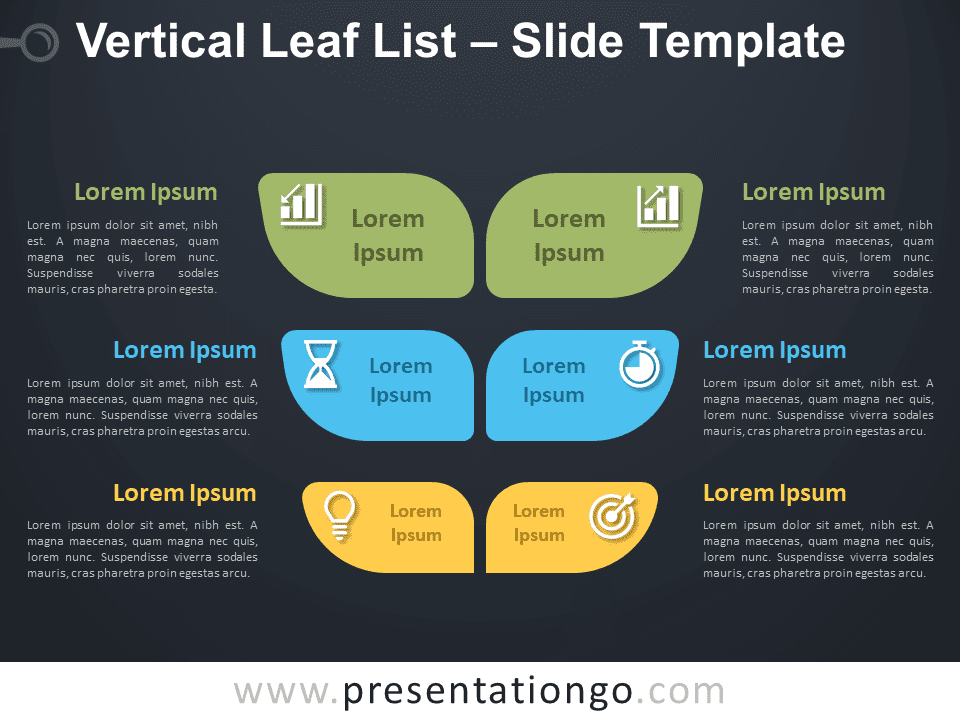 Free Vertical Leaf List Infographic for PowerPoint