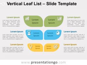 Free Vertical Leaf List for PowerPoint