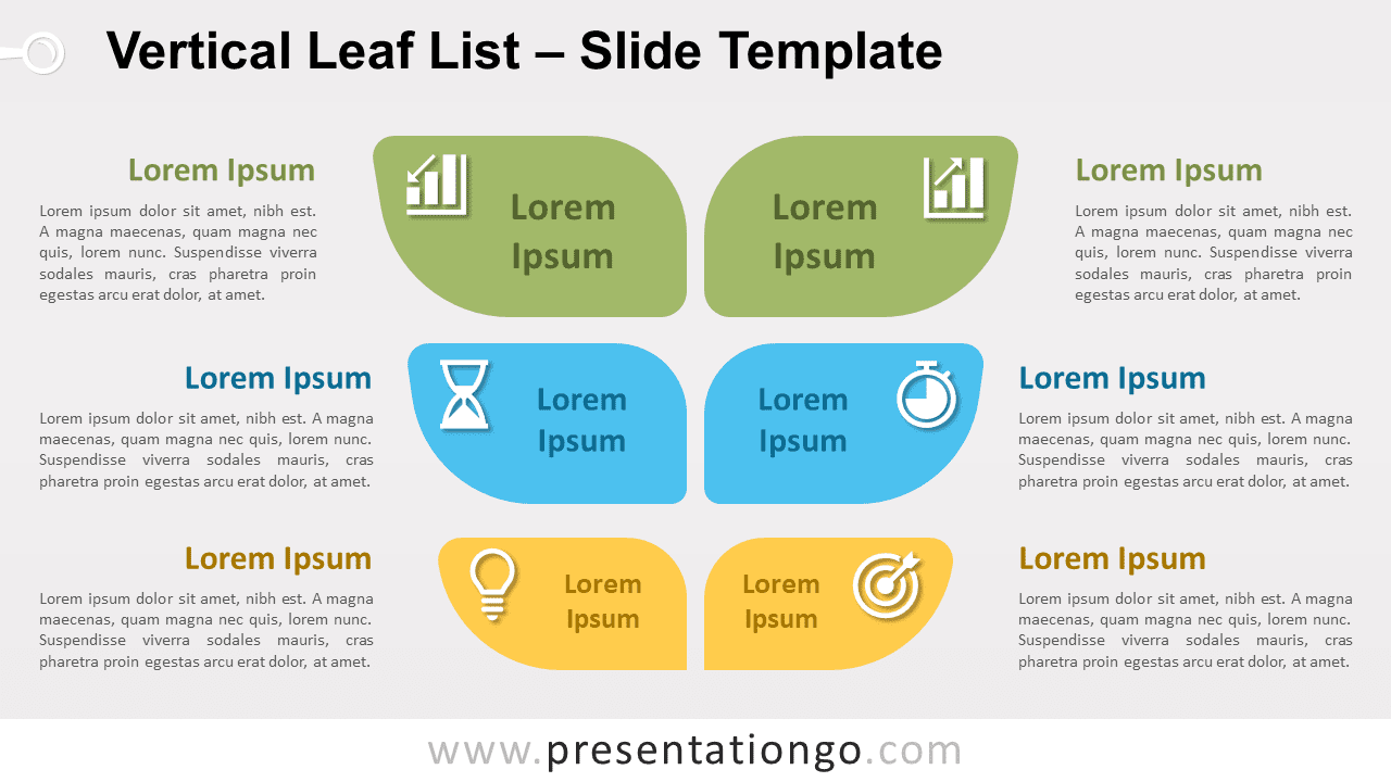 Free Vertical Leaf List for PowerPoint and Google Slides