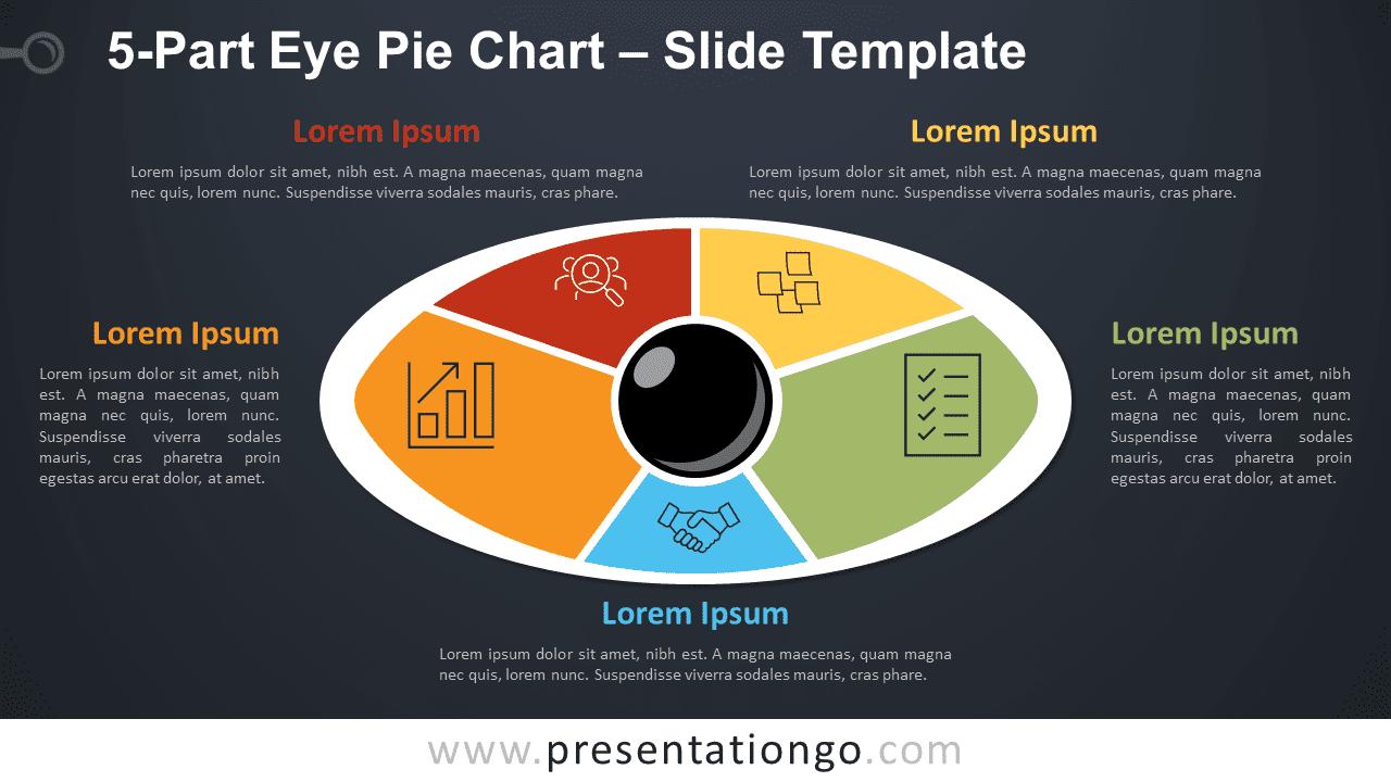 5-Part Eye Pie Chart PowerPoint and Google Slides Diagram