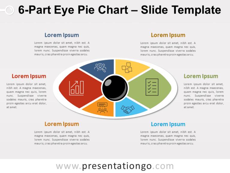6-Part Eye Pie Chart PowerPoint