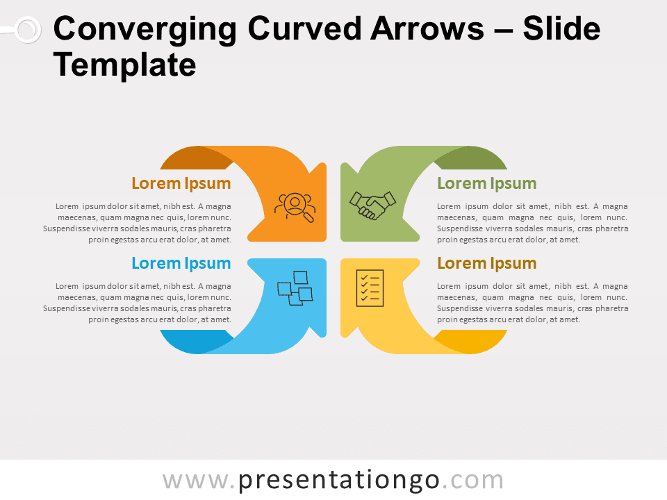 Converging Curved Arrows for PowerPoint