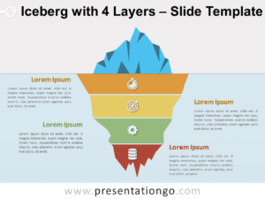 Iceberg with 4 Layers for PowerPoint