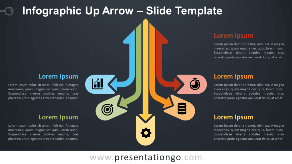 Infographic Up Arrow Diagram for PowerPoint and Google Slides