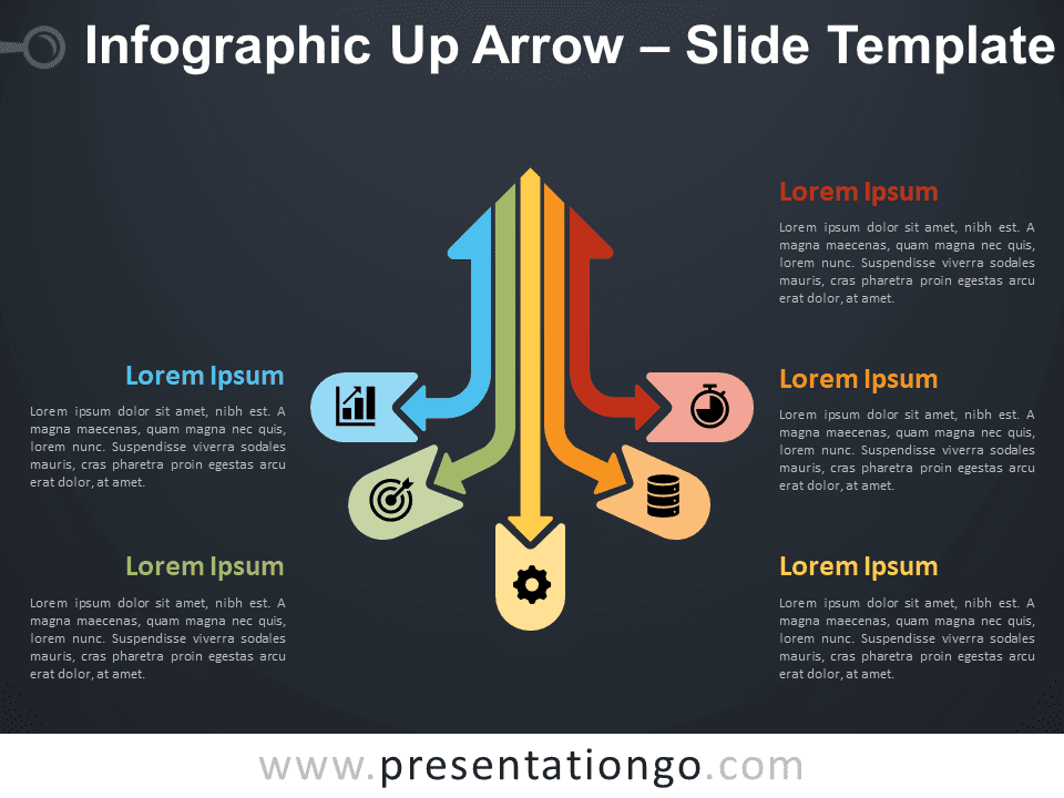 Infographic Up Arrow Diagram for PowerPoint