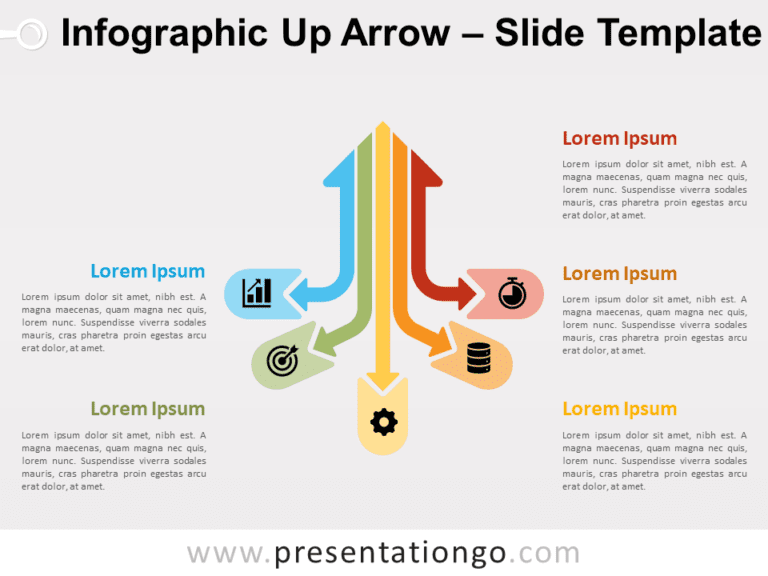 Infographic Up Arrow for PowerPoint