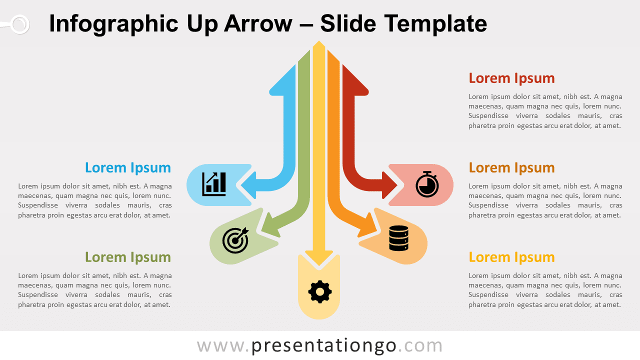 Infographic Up Arrow for PowerPoint and Google Slides
