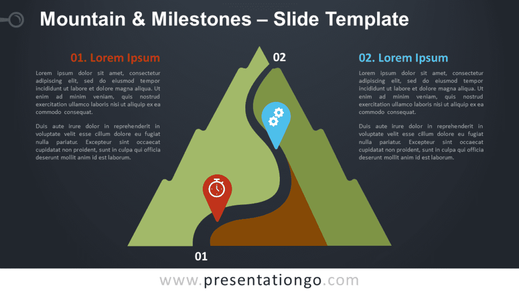 Mountain & Milestones Graphics for PowerPoint and Google Slides