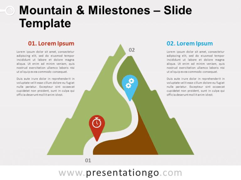 Mountain & Milestones for PowerPoint