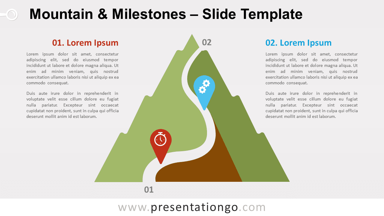 Mountain & Milestones for PowerPoint and Google Slides