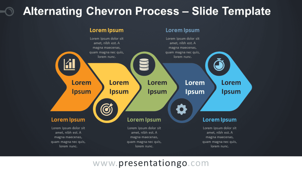 Free Alternating Chevron Process Timeline for PowerPoint and Google Slides