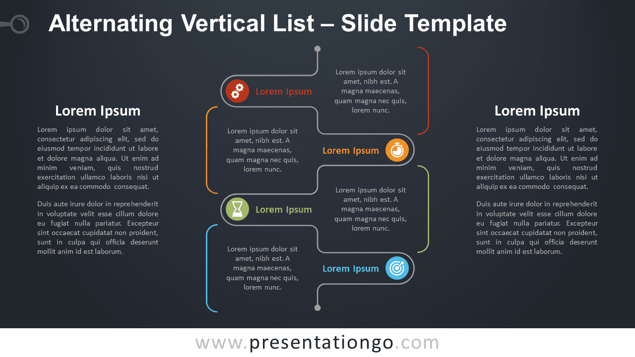 Free Alternating Vertical List Graphics for PowerPoint and Google Slides