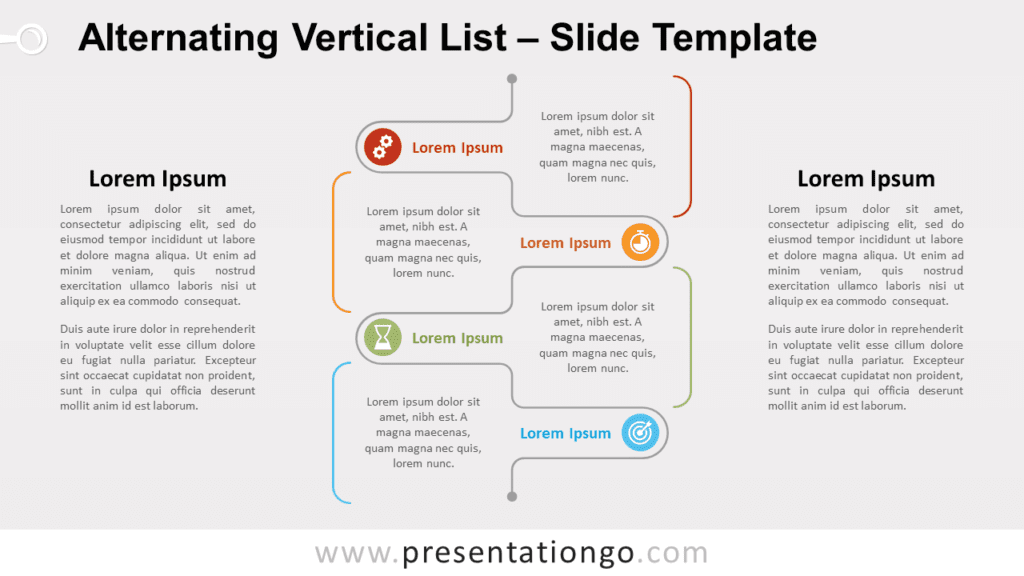 Free Alternating Vertical List for PowerPoint and Google Slides