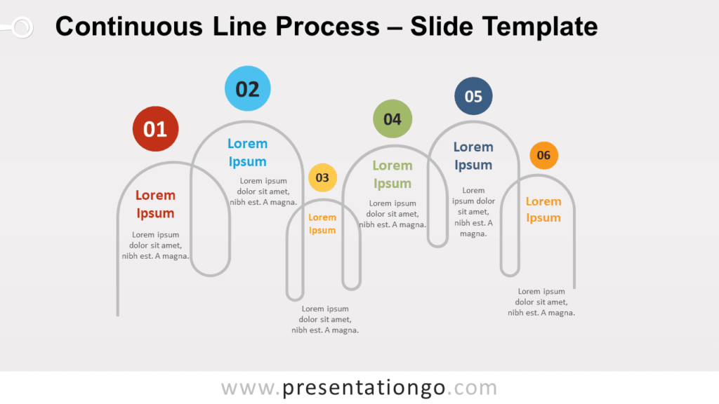 Free Continuous Line Process for PowerPoint and Google Slides