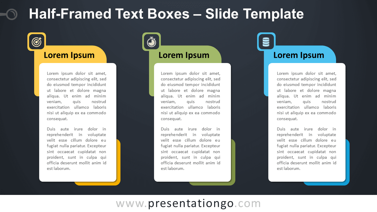 Free Half-Framed Text Boxes Graphics for PowerPoint and Google Slides