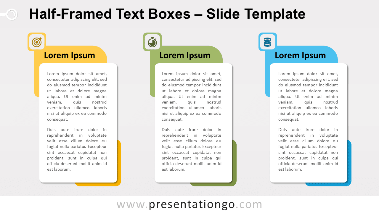 Free Half-Framed Text Boxes for PowerPoint and Google Slides