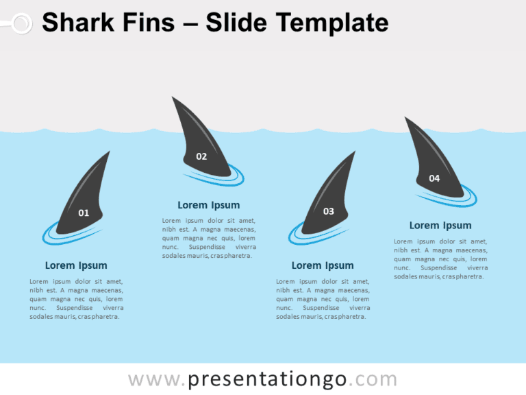 Free Shark Fins for PowerPoint