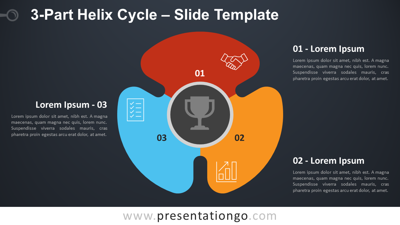 Free 3-Part Helix Cycle Diagram for PowerPoint and Google Slides