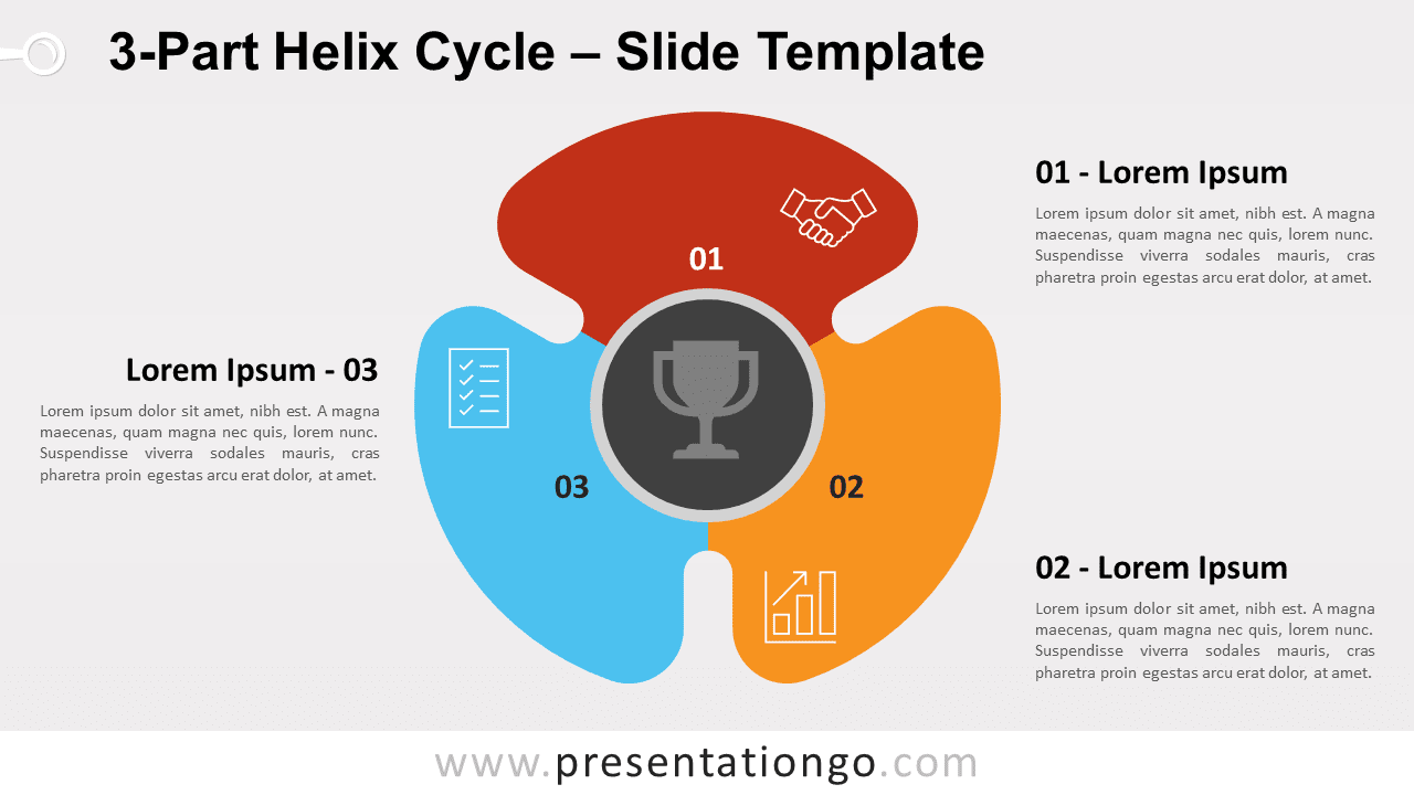 Free 3-Part Helix Cycle for PowerPoint and Google Slides