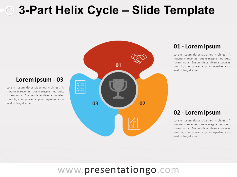 Free 3-Part Helix Cycle for PowerPoint