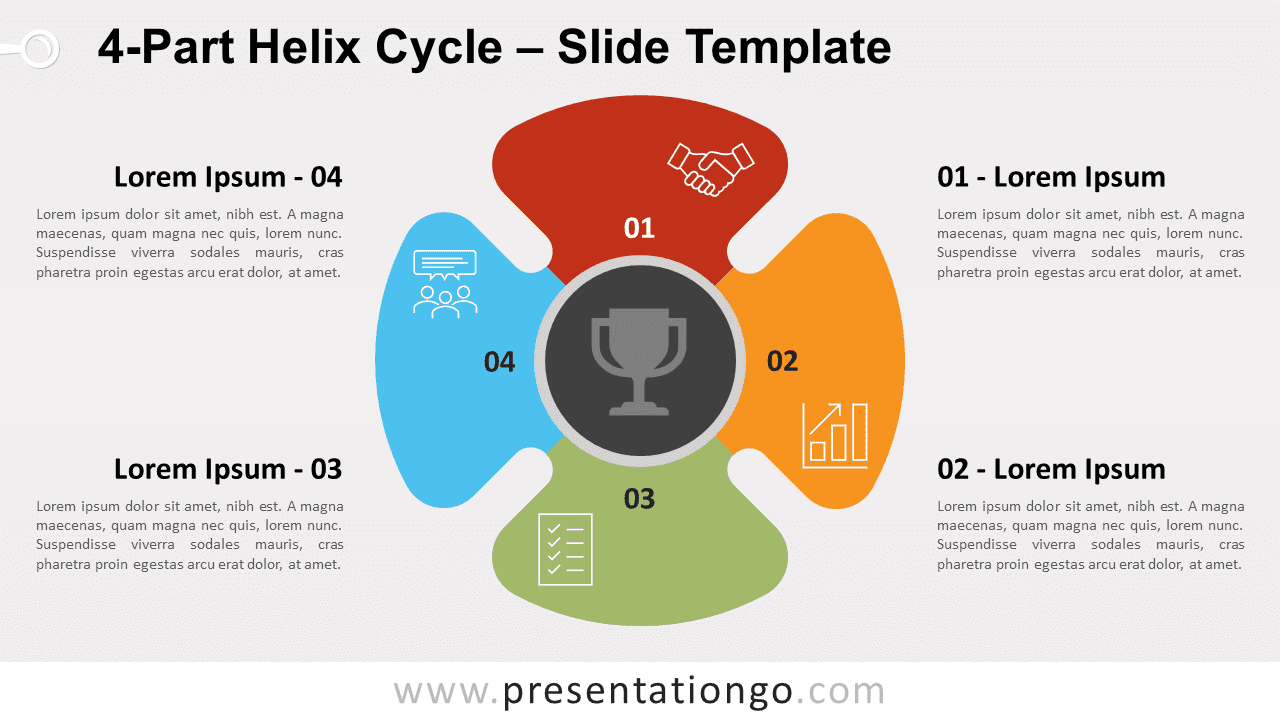 Free 4-Part Helix Cycle for PowerPoint and Google Slides