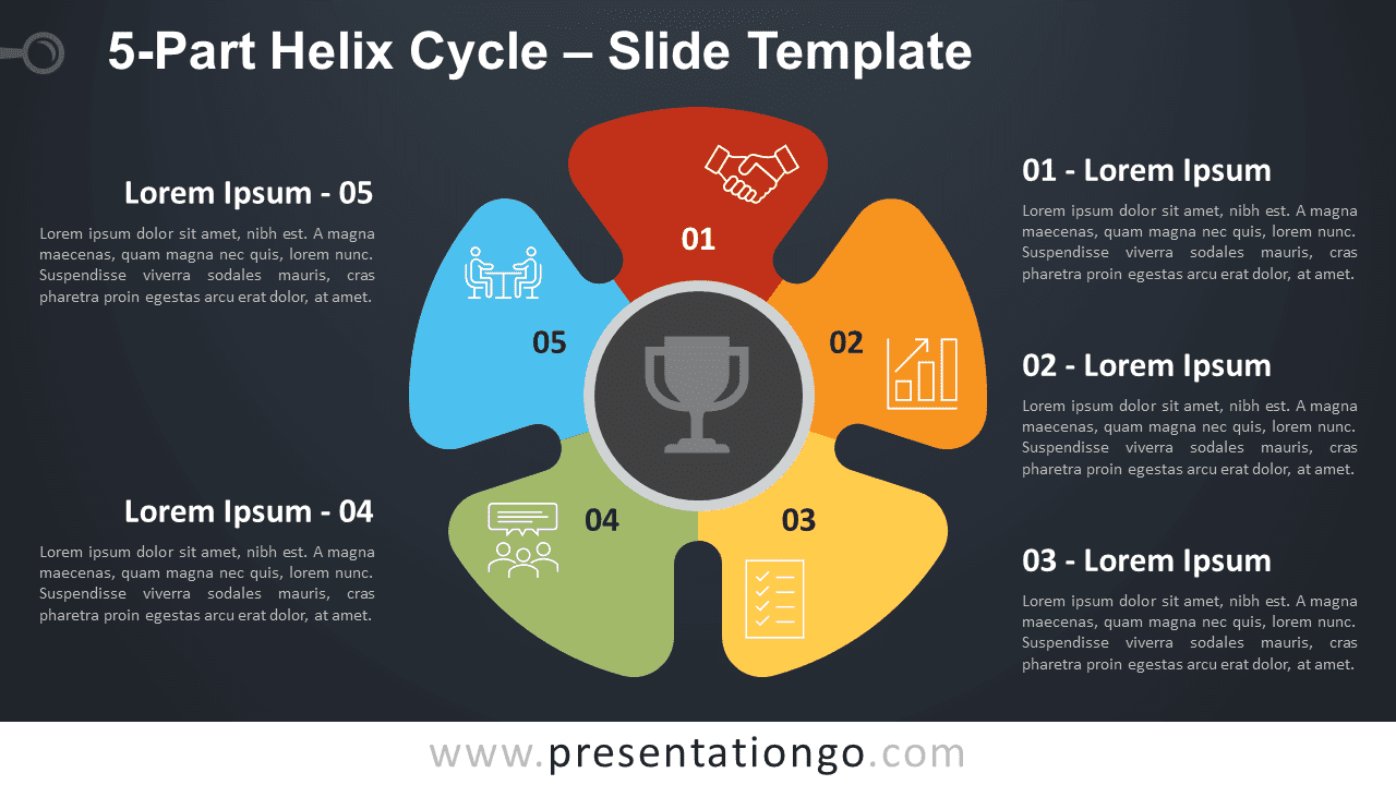 Free 5-Part Helix Cycle Diagram for PowerPoint and Google Slides