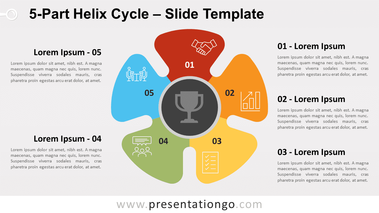 Free 5-Part Helix Cycle for PowerPoint and Google Slides