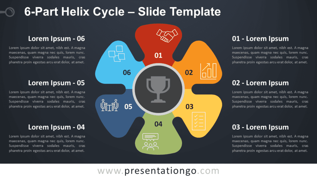 Free 6-Part Helix Cycle Diagram for PowerPoint and Google Slides