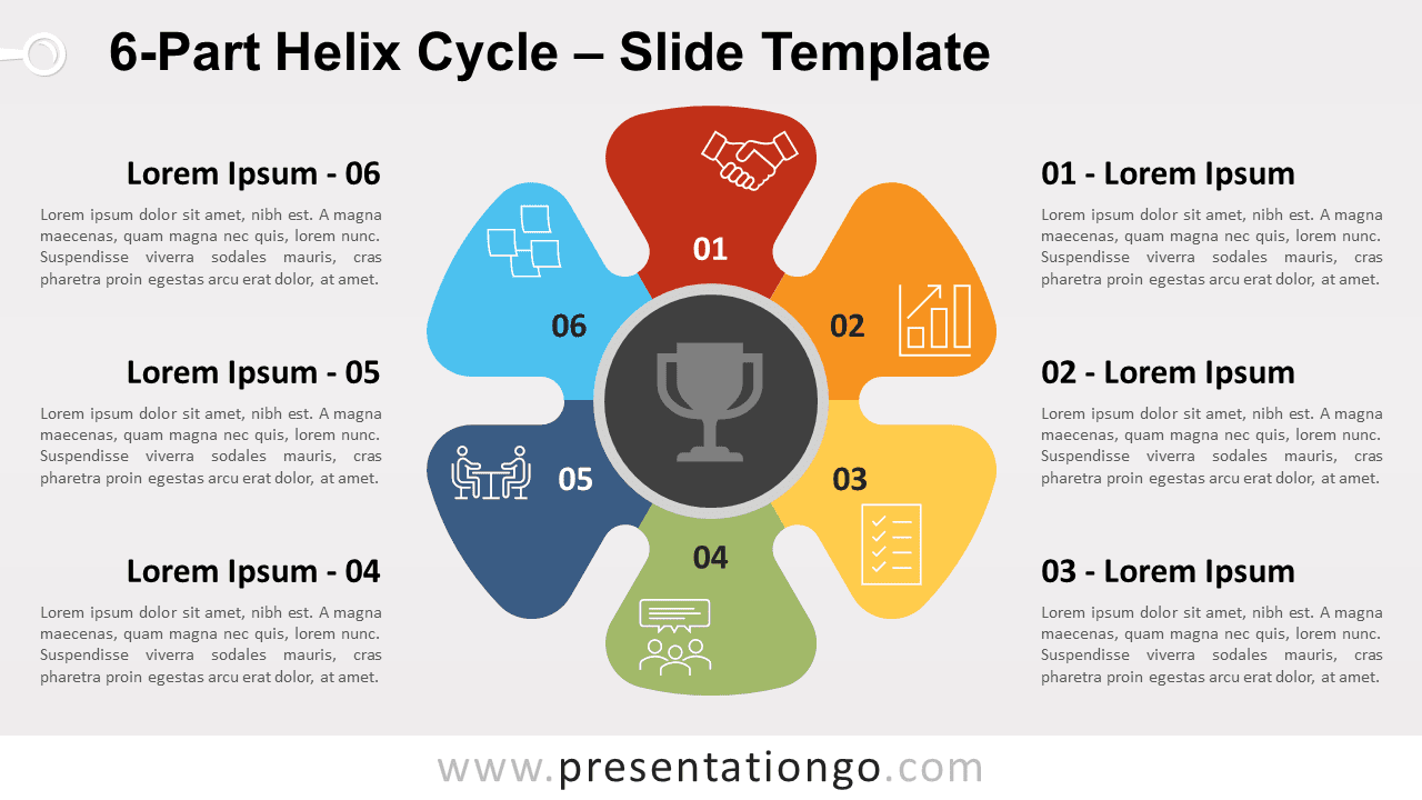 Free 6-Part Helix Cycle for PowerPoint and Google Slides