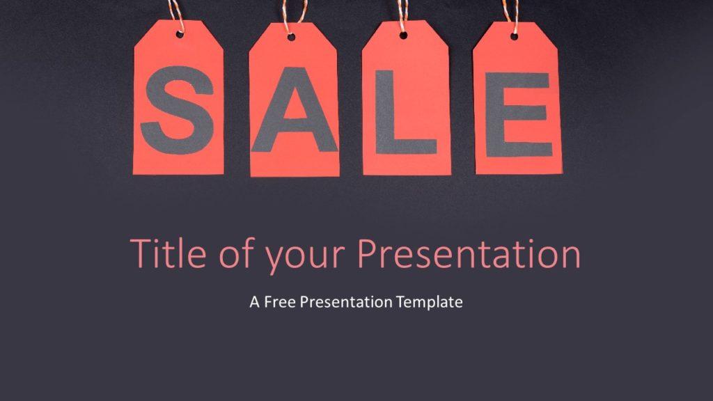 Free Sales Template for Google Slides - Cover Slide