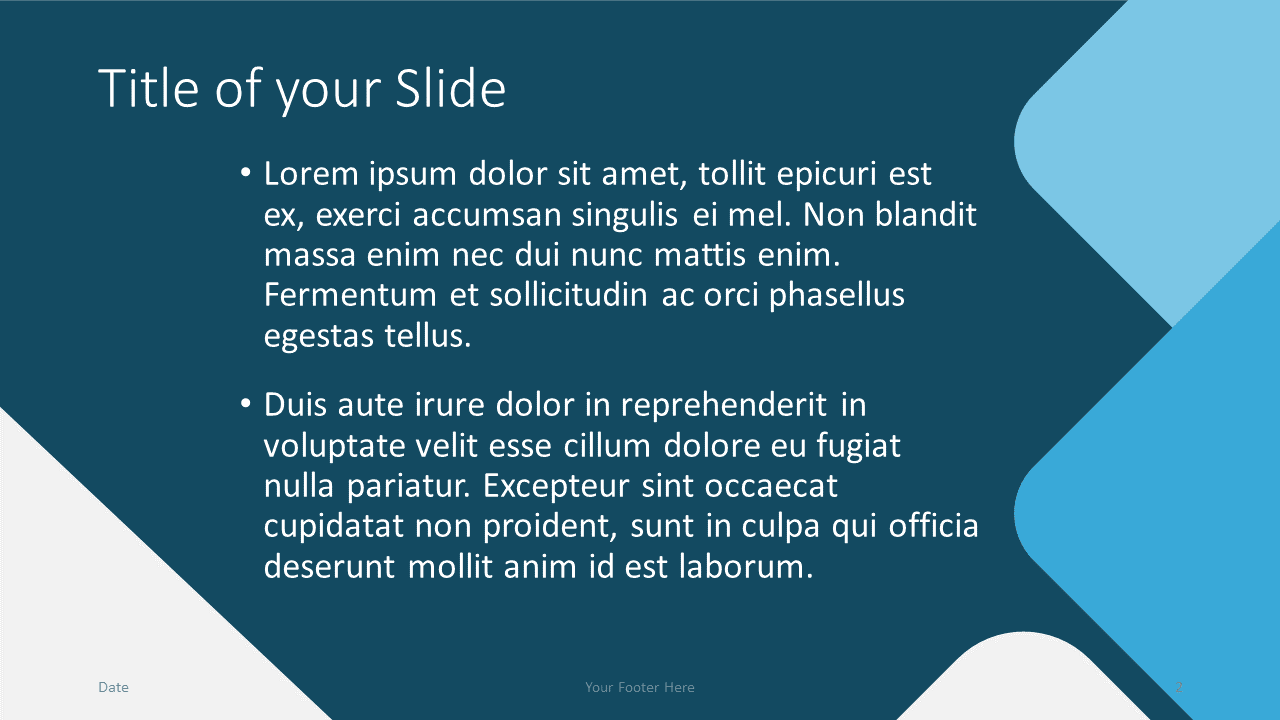 Free Abstract Rounded Template for Google Slides – Title and Content Slide (Variant 1)