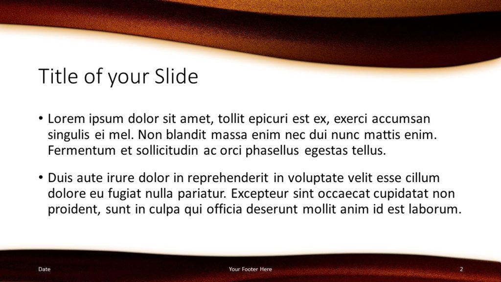 Free Golden Waves Template for Google Slides – Title and Content Slide (Variant 1)