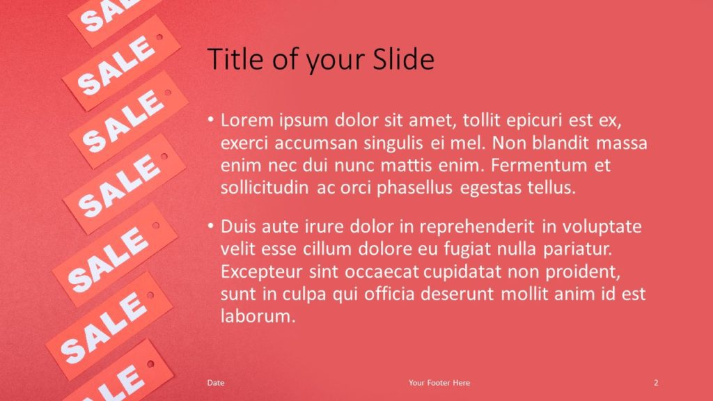 Free Sales Template for Google Slides – Title and Content Slide (Variant 1)