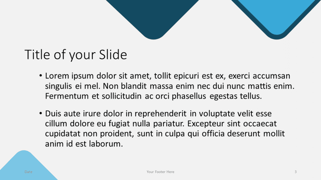 Free Abstract Rounded Template for Google Slides – Title and Content Slide (Variant 2)