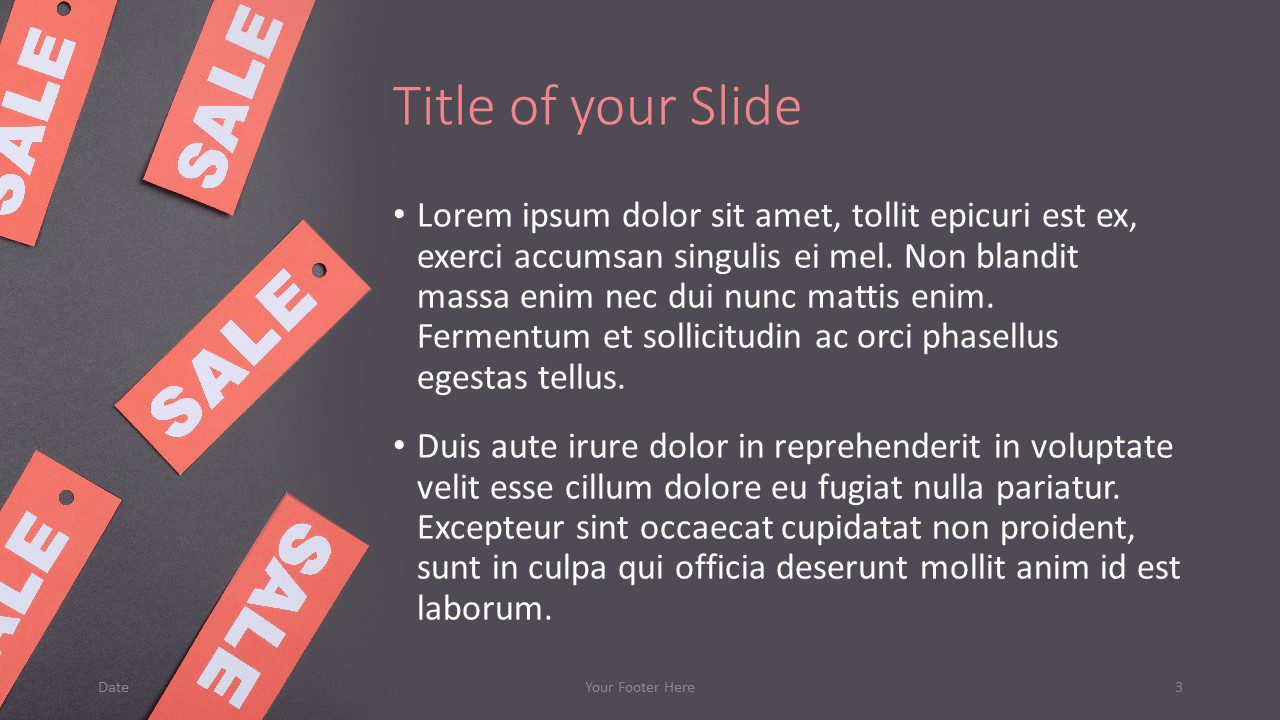 Free Sales Template for Google Slides – Title and Content Slide (Variant 2)