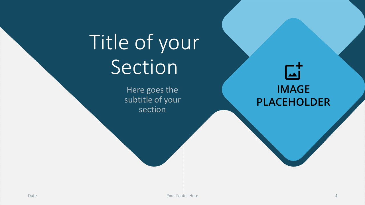 Free Abstract Rounded Template for Google Slides – Section Slide (Variant 1)