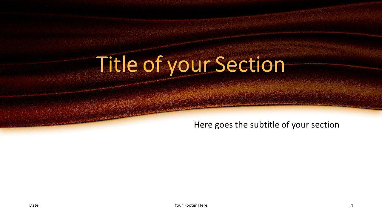 Free Golden Waves Template for Google Slides – Section Slide (Variant 1)