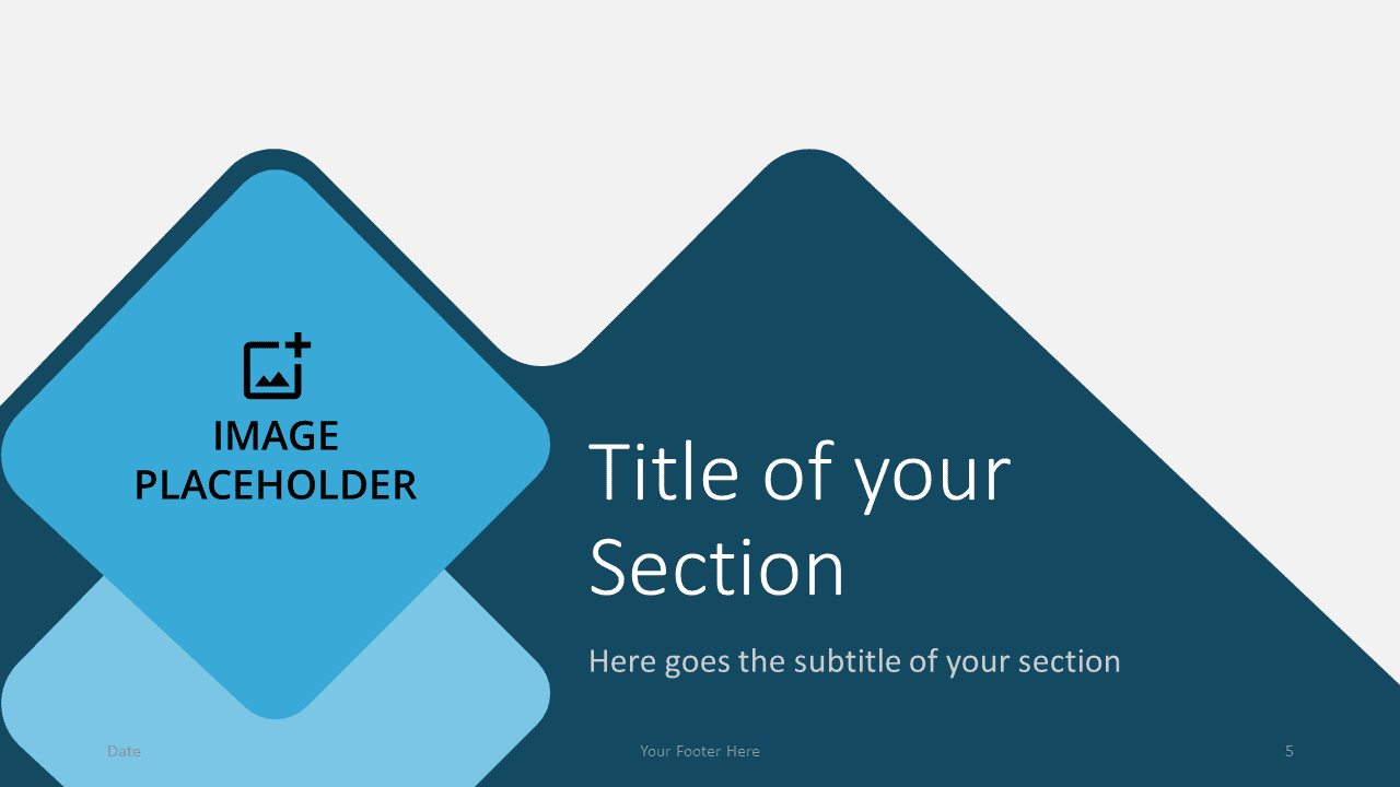 Free Abstract Rounded Template for Google Slides – Section Slide (Variant 2)